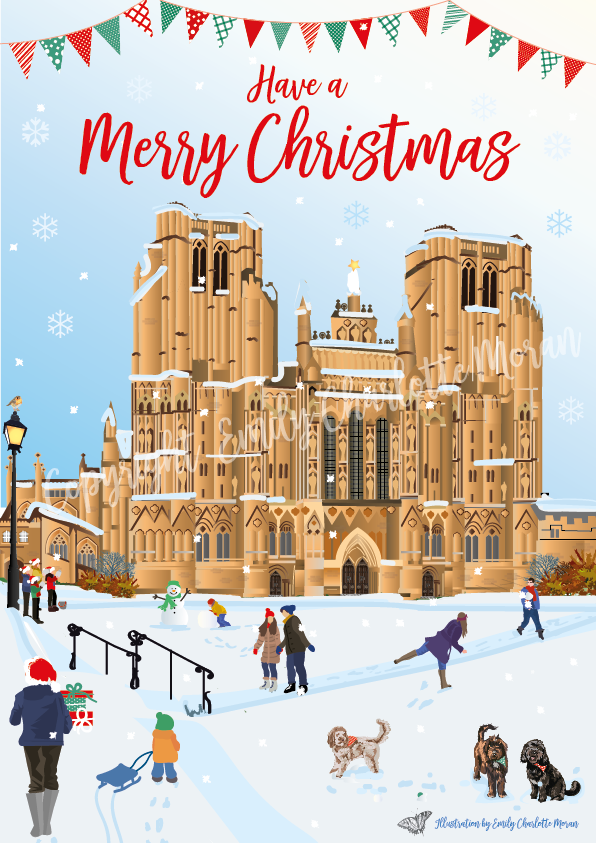 Wells Cathedral Illustration
